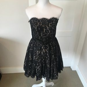 Robert Rodriguez Black Lace Dress